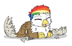 Rainbow Feather just hatched by BreezePleeze by Q99