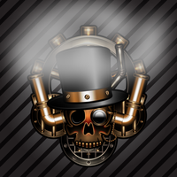steam-art skull by IllustratorG