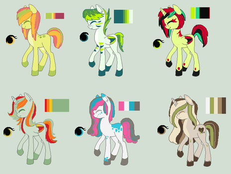 Pony Adoptable Batch 4# -Closed- by LuckyCloverAdopts