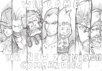 7 Division Commanders of Strawhat Pirates by tonyohoho