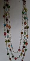 multi strand beaded necklace by MadDani