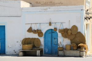 Tunis - Blue Door by ZabelPhotography