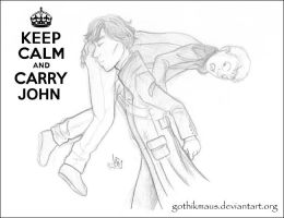 Keep calm and carry John by gothikmaus
