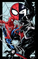 Web Slinger vs The Space Knight  by gscratcher