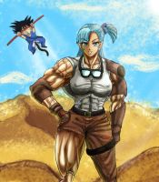 Young Bulma and Goku by S20K00Y