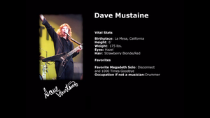 Dave Mustaine Vital Stats by Daron55