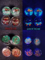 Madballs Wolf Breath and Lock Lips 7-8 Gauges by Undead-Art
