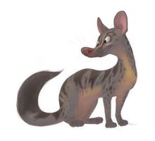 Owston's civet by Henrieke