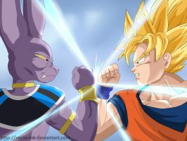 DBZ Goku and Birusu by rocio-mb