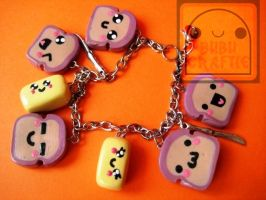 Kawaii Bread And Butter Bracelet by efeeha