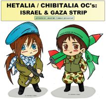 Hetalia - Chibitalia - Israel and Gaza by jmantime-is-Here