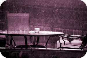 Rain Cafe by OcularFracture