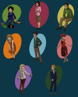 First Doctor Companions by DeathByBacon