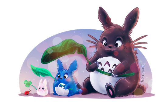 Totoro and Friends by Jullelin
