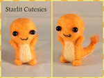 Needle Felted Chibi Charmander! by Charlottejks