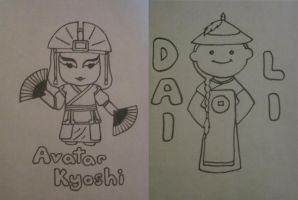 Avatar Kyoshi and Dai Li Agent by the-rose-of-tralee