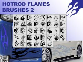 Hotrod flames brushes 2 by guska076