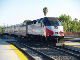 Caltrain Baby Bullet by NitzkaPhotography