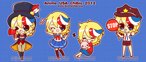 Anime USA 2012 Chibis by Pijenn