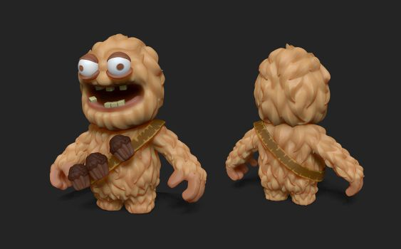 Browny Monster - Game Character by kabirtalib