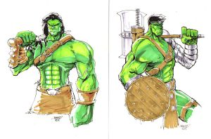 Planet Hulk Skaar Commisisons by rantz
