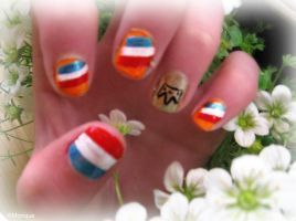 Queens day nails by Monique-Art