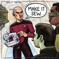 Picard says, 'Make it sew!' by RockyDavies