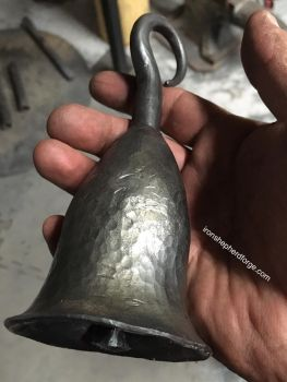 Forged steel hand bell by ironshepherdforge