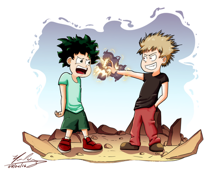 Izuku And Katsuki by mannyzworld