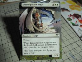 MTG Altered and 3D card_Emancipation Angel by GhostArm1911