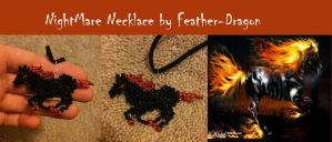 NightMare Necklace by Feather-Dragon