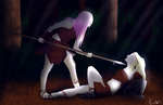 Sakura and Ino- Enemies.... by Kali15