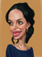 Angelina Jolie by jiangming