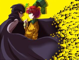SP:Mysterion and Kyle by Shimejiro