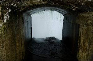 Tunnel behind the Niagara falls 02 by FairieGoodMother