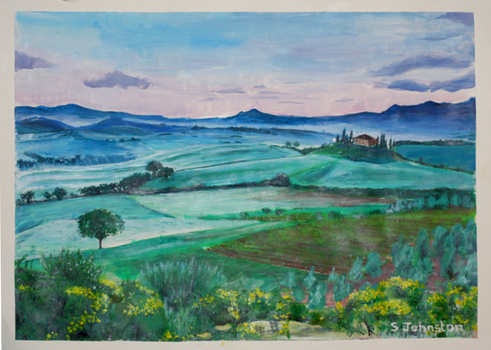 Tuscany Hills by ArtfromRed