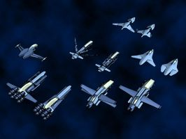 Terran Fighter Squadron by BTIsaac