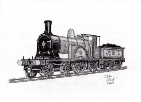 Caledonian Railway Single No. 123 by The-Orient-Express