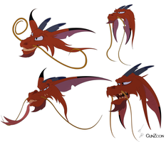 Guardian Spirit Mushu Faces by GunZcon