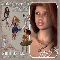 STOCK - Fantasy Women by NorellaAngelique