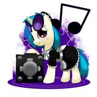 maid vinyl scratch by hoyeechun