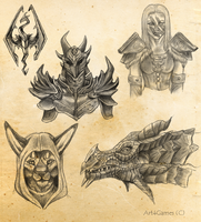 Skyrim Sketches by Art4Games