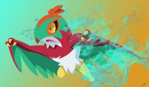 Hawlucha - Sky Attack by LightDragon87