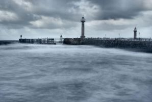 whitby pier by Dune-sea