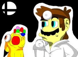 Dr Mario Returns In Smash (Doodle) by Pioxys