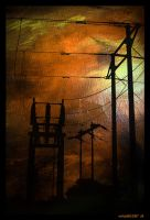 Powerlines Dominate the Sky by evilopi8