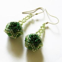 Daftar earrings with beaded beads by Sol89
