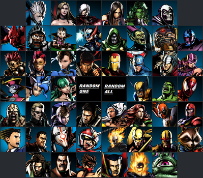 Ultimate MvC3 Roster by Kirby-Kid