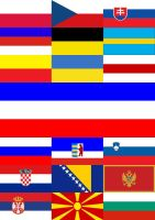 Slavic flags _ without names by Yevaud-aep-Dessen