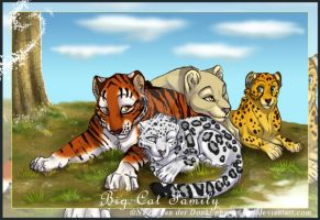 Big cat family by pharao-girl